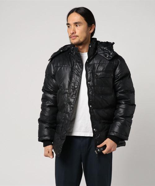 【BS】ナイロン シレー加工 フード脱着 中綿ジャケット