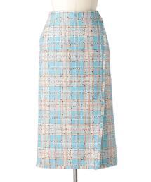 Drawer ミックスツイードタイトスカート