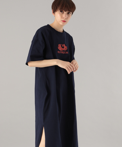 【FRUIT OF THE LOOM】カットロングワンピース