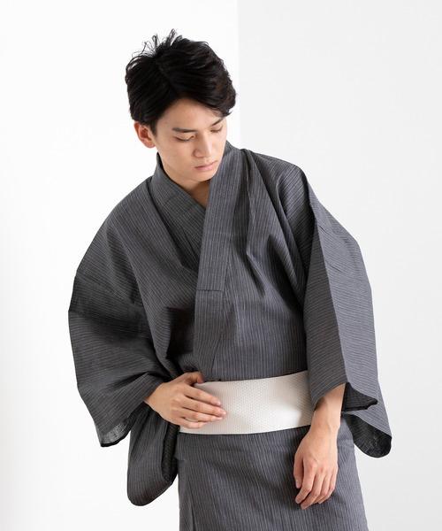 KYOETSU(キョウエツ)の「しじら浴衣4点セット(浴衣)」 グレー