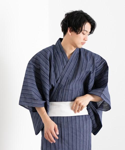 KYOETSU(キョウエツ)の「しじら浴衣4点セット(浴衣)」 ブルー系その他5