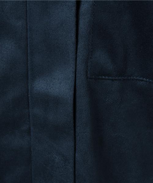 スウェード調カットソーシャツ