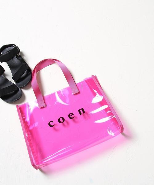 【水泳や海水浴にも・coen キッズ / ジュニア】coenロゴプールバッグ(PVCバッグ/トートバッグ)