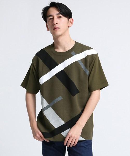 ニットドッキングランダムスラントシャツ