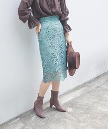 EMMEL REFINES(エメルリファインズ)の◆FC ケミカルレースIラインスカート(スカート)