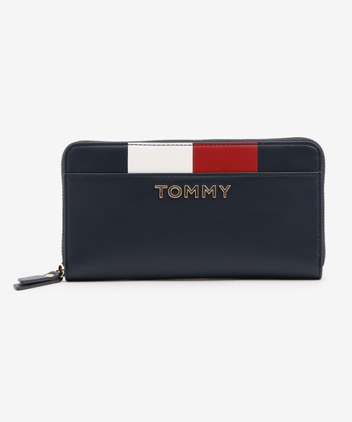 69e7779588e5 TOMMY HILFIGER(トミーヒルフィガー)のシグネチャーロゴジップウォレット(財布)