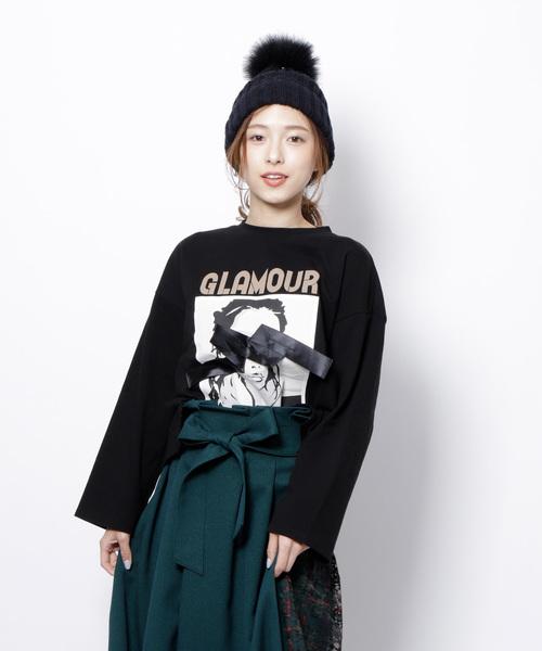 Re.Verofonna(ヴェロフォンナ)の「GLAMOUR Tシャツ(Tシャツ/カットソー)」 ブラック