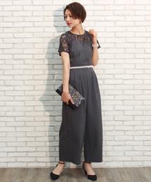 TRUDEA(トルディア)のビスチェ風レースワイドパンツドレス(ドレス)