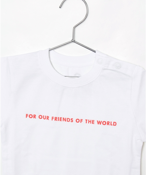 LOVE AND PEACE プロジェクト サインラブメッセージ シンプルTシャツ <キッズ>
