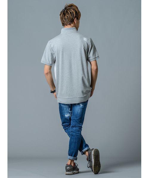 【REGIEVO】ブロックチェックポロシャツ ビッグシルエット