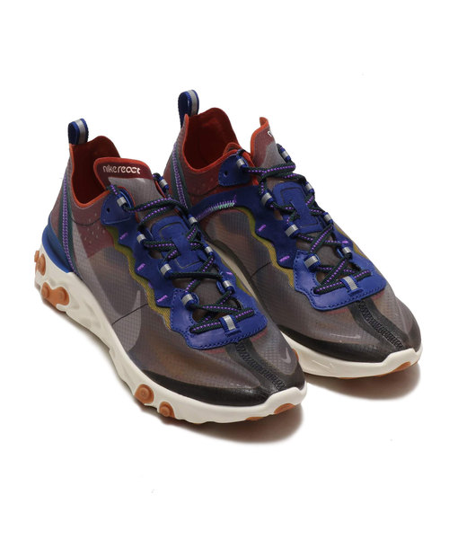 NIKE REACT ELEMENT 87 (DSTY PCH/ATMSPHR GRY-DP RYL BL) 【SP】