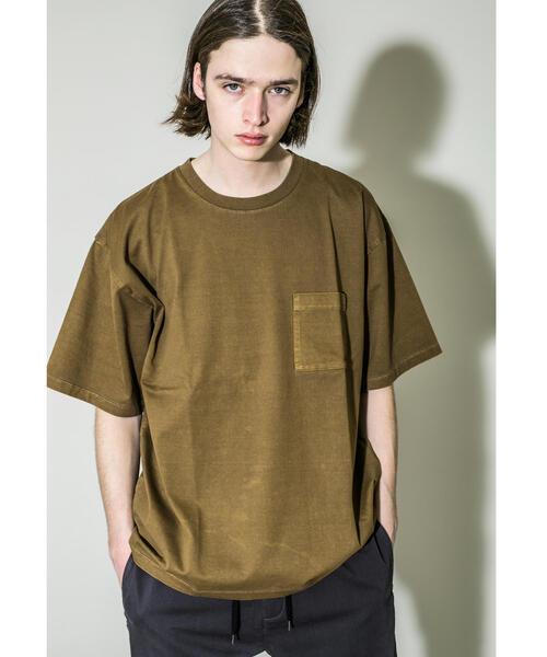 <monkey time> 40/2 CHAMB DYE POC T/Tシャツ