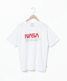 【ウィメンズ】USAコットンNASAグラフィックプリントTシャツ
