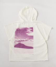 TOKYO DESIGN STUDIO New Balance GARMENT DYE HOODED T-SHIRTS (PRINTED)■■■