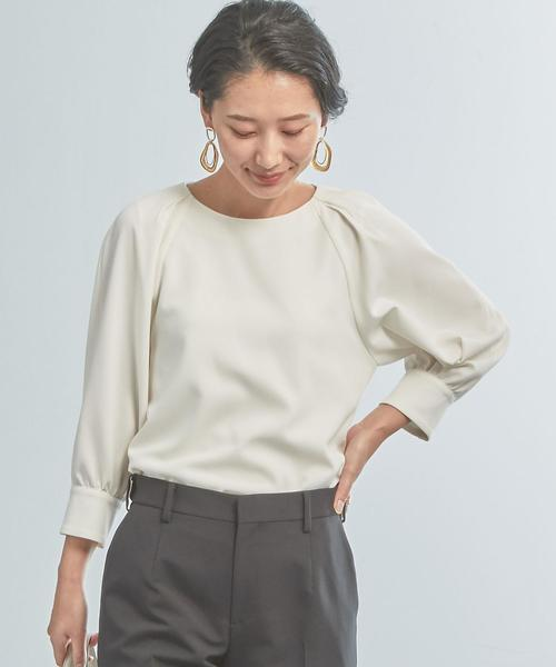 【WORK TRIP OUTFITS】★WTO CS 袖タック ブラウス