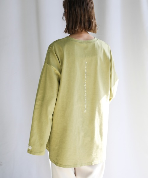 select MOCA(セレクトモカ)の「2021 SS SELECTMOCAロングTシャツ(Tシャツ/カットソー)」|カーキ