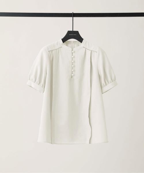 UNITED TOKYO(ユナイテッドトウキョウ)の「ペザントギャザーブラウス(シャツ/ブラウス)」 ホワイト