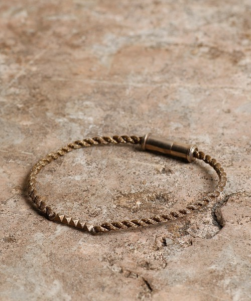 GILD studs plate cord anklet