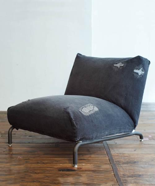 【高知インター店】 RODEZ CHAIR CHAIR 1P BLACK Damage journal COVER DENIM COVER ^(家具) journal standard Furniture (ジャーナルスタンダードファニチャー)のファッション通販, アップデート:2648a66c --- wm2018-infos.de