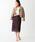 EMMEL REFINES(エメルリファインズ)の「【EMMEL REFINES】◆FC ケミカルレース Iラインスカート(スカート)」|ダークブラウン