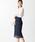 EMMEL REFINES(エメルリファインズ)の「【EMMEL REFINES】◆FC ケミカルレース Iラインスカート(スカート)」|ネイビー