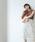 EMMEL REFINES(エメルリファインズ)の「【EMMEL REFINES】◆FC ケミカルレース Iラインスカート(スカート)」|オフホワイト
