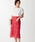 EMMEL REFINES(エメルリファインズ)の「【EMMEL REFINES】◆FC ケミカルレース Iラインスカート(スカート)」|ピンク