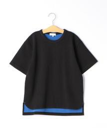 【ジュニア】Wフェイス 無地Tシャツ