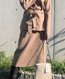 UNRELISH(アンレリッシュ)のスリットニットタイトスカート(デニムスカート)