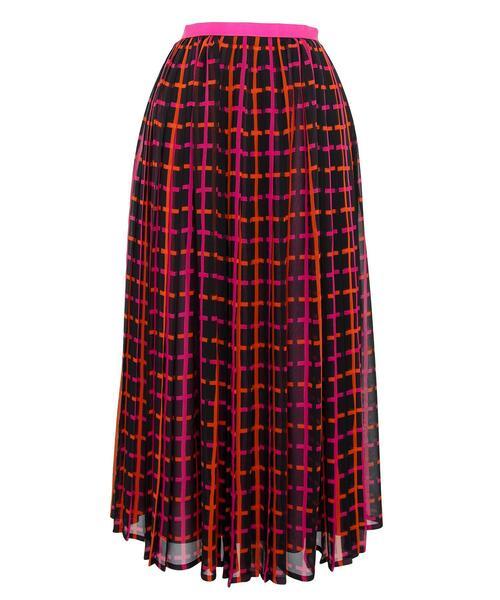 <Drawer(ドゥロワー)> シルクシフォンプリントプリーツスカート