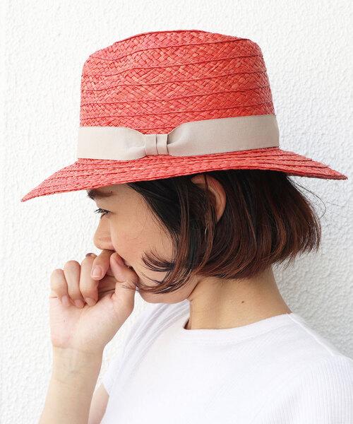 □ ラフィアハット / つば広帽 中折れ