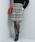 ViS(ビス)の「シャギーチェックタックスカート(スカート)」|グレー