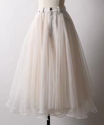 la belle Etude(ラベルエチュード)の【LA BELLE ETUDE】【Belle vintage】デニムドッキングボリュームチュールスカート(スカート)
