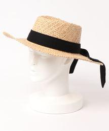 MOUSSY(マウジー)のRAFFIA BASIC HAT(キャップ)
