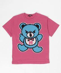 HYS BEAR pt Tシャツ【L】マジェンタ