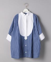 <sacai(サカイ)>ストライプ フレアシャツ ■■■