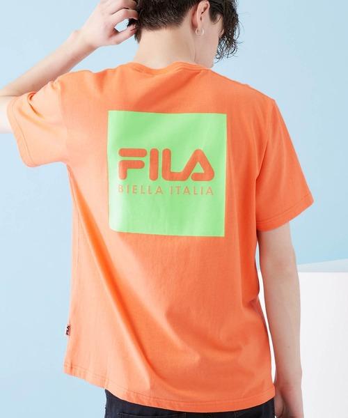 FILA/フィラ BTS着用モデル FILA ロゴプリント バックプリント 半袖Tシャツ/ユニセックス
