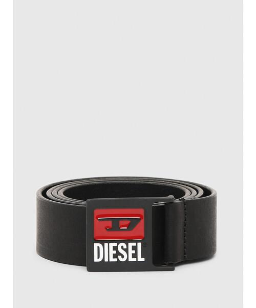 DIESEL(ディーゼル)の「メンズ クラシックロゴバックル ベルト(ベルト)」|ブラック