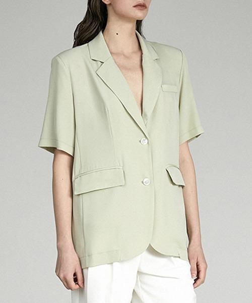 【UNSPOKEN】half sleeve light jacket UX21W031