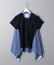<sacai(サカイ)>バックシャツ カットソー NAVY ■■■
