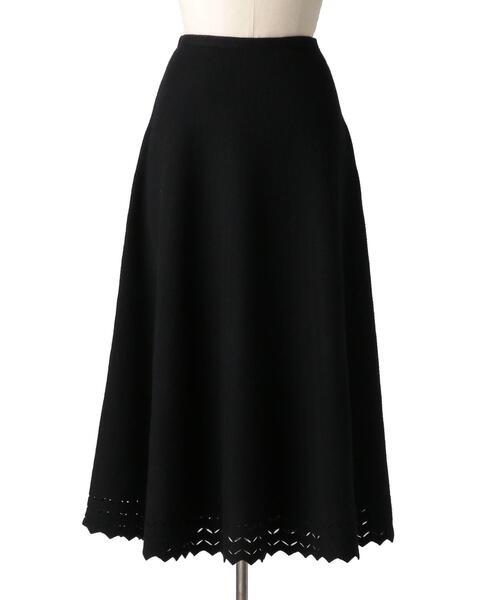 Drawer 16Gヘムスカラップフレアニットスカート