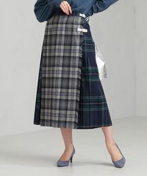 [ オニール・オブ・ダブリン ] O'NEIL of DUBLI SC パネル キルト スカート
