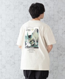 【OUTDOOR PRODUCTS × Mark Gonzales】バックプリント コラボTシャツベージュ