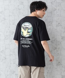 【OUTDOOR PRODUCTS × Mark Gonzales】バックプリント コラボTシャツブラック系その他