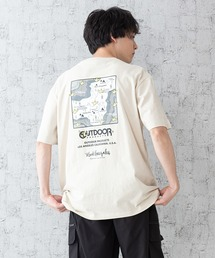 【OUTDOOR PRODUCTS × Mark Gonzales】バックプリント コラボTシャツベージュ系その他