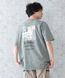 【OUTDOOR PRODUCTS × Mark Gonzales】バックプリント コラボTシャツグリーン系その他