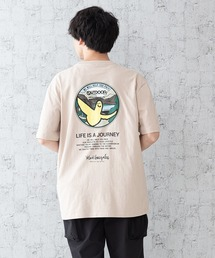 【OUTDOOR PRODUCTS × Mark Gonzales】バックプリント コラボTシャツピンク