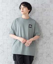 【OUTDOOR PRODUCTS × Mark Gonzales】バックプリント コラボTシャツグリーン