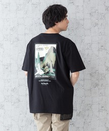 【OUTDOOR PRODUCTS × Mark Gonzales】バックプリント コラボTシャツブラック