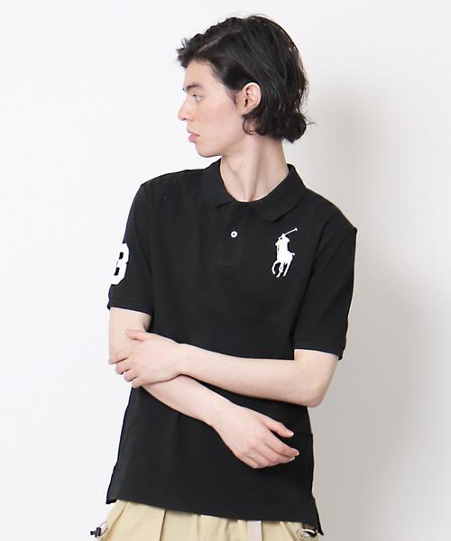 【 POLO RALPH LAUREN / ポロラルフローレン 】スリムフィット ビックロゴ刺繍 半袖ポロシャツ RYZ